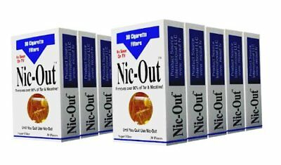 Nic-Out Cigarette Filters 10 Packs (300 Filters) Smoking Free ~ Free Shipping US