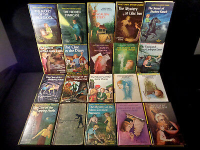 Lot of 57 Vintage  Nancy Drew, Yellow Matte, 1-56, Missing #53, VG-EXC,