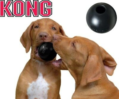 Kong Extreme Dog Toy Small Rubber Ball Tough Chew Durable Pet Fetch Toys Black
