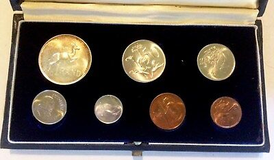 Coin Set, South Africa, 1965, Mint, 7 - Coins, South Africa Mint