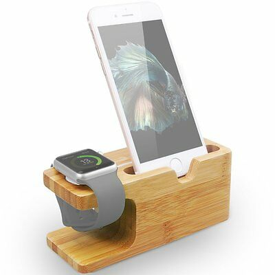 Wood Charging Dock Station Stand Holder for Iphone X 8 Plus iWatch Smartphones