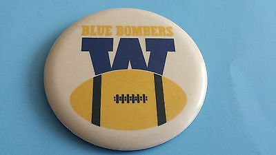Vintage Cfl Winnipeg Blue Bombers 3.25 Inches Button/pinback