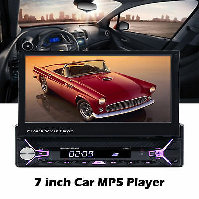 "7"" Bluetooth Car MP5 Player HD 1080P Touch Screen Hands Free MP3/FM/USB 1 Din"