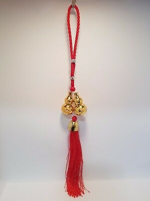 "Wu Lu/Gourd Twin Hanging Gold 345mm ""Health & Success"" (Post or Local Pickup)"