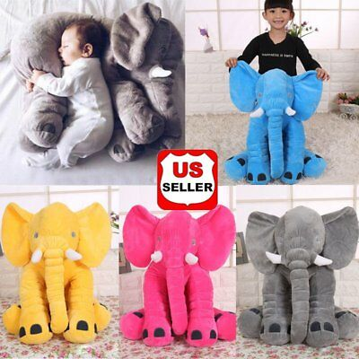 Baby Large Stuffed Elephant Plush Sleep Pillow Toy Doll Animal Pillow Cushion NH