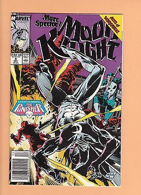 Marc Spector Moon Knight #8 and 9 1989 VF/NM 9.0 & NM 9.4 Punisher 1st Anarchy