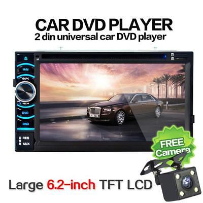 6.5 Double 2DIN Touch Car Stereo CD DVD Player Bluetooth USB SD AM FM TV Radio