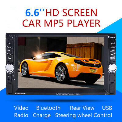 6.6inch Double 2 Din Touchscreen In dash Car Stereo Radio Mp3 Player FM Aux