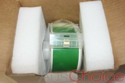 "BRADY GlobalMark Vinyl Label Tape Roll Cartridge 2.25in x100ft GREEN 2.25"" - New"