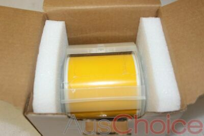 "BRADY GlobalMark Vinyl Label Tape Roll Cartridge 4in x100ft YELLOW 4"" - New"