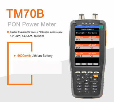 TM70B PON Power Meter LCD Pon Test Instrument 1310nm 1490nm 1550nm For PON Netwo