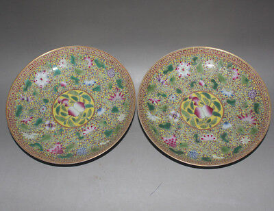 153 Chinese Old Collection Famille Rose Flower&Bird Pattern Porcelain Plate