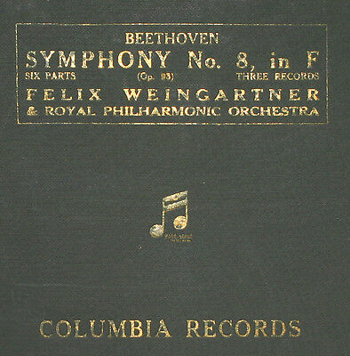 ROYAL PHILHARM. & WEINGARTNER Beethoven: Symphony No. 6 in F  Op. 93 78rpm  A269