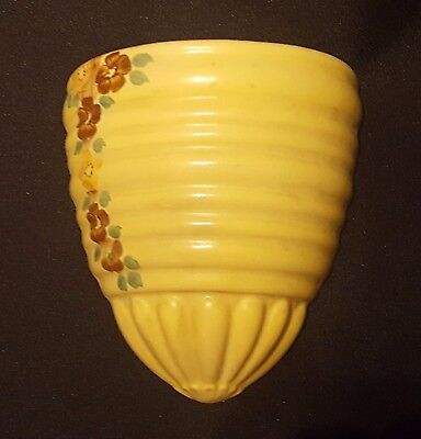 Original Art Deco Wall Pocket Vase - Empire Mark - Handpainted - 17Cm X 13Cm