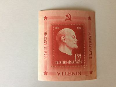 Stamp posta romina 1960 The 90th Anniversary of the Birth of Lenin