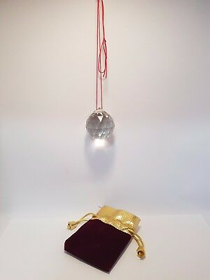 """Lead Crystal Ball with Pouch 40mm """"Wealth"""" (Post or Local)"""