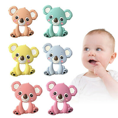 Safety Food Grade Silicone koala Baby Teething Chew Toy Teether Grind Baby Teeth