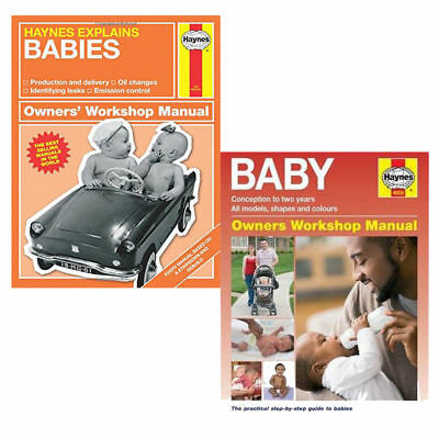 Babies - Haynes Explains and Baby Manual 2 Books Collection Pack Set NEW BRAND