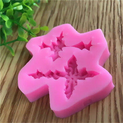 Vivid Delicate 3D Cross leaf Silicone Fondant Cake Molds Soap Chocolate
