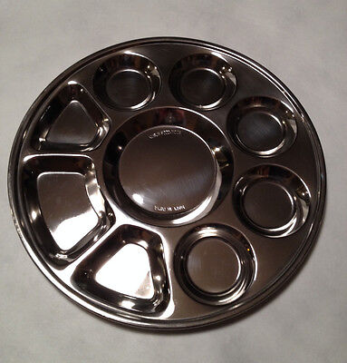 Stainless Steel Tray: 9 Compartment Thali
