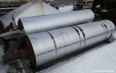 "Used- Blaw Knox / Buflovak Double Drum Dryer Roll. 32"" Diameter x 120"" face chro"