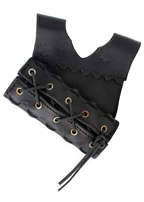 MEDIEVAL CORSET LEATHER/CLOTH, brown/black, LARP SCA viking