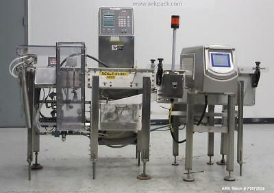 Used- Safeline R Series Power Phase Pro Metal Detector and Icore Checkweigher Co