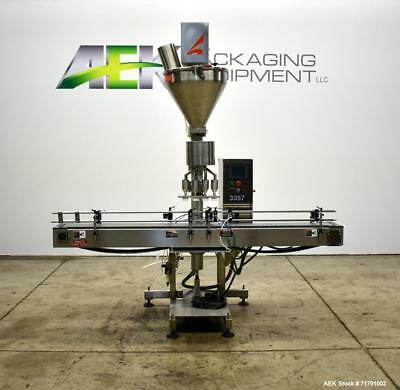 Used-All-Fill Model SHAA-600 Automatic Inline Auger Filler capable of speeds up