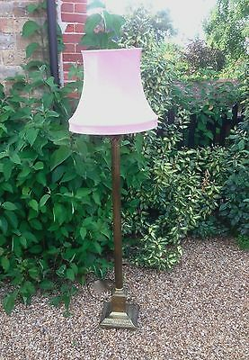 Antique Edwardian Brass Corinthian Standard Lamp