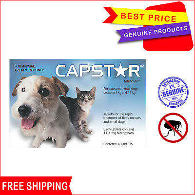 CAPSTAR for Small Dogs 0.5 to 11 Kg BLUE 6 tablets for Fast Flea Prevention
