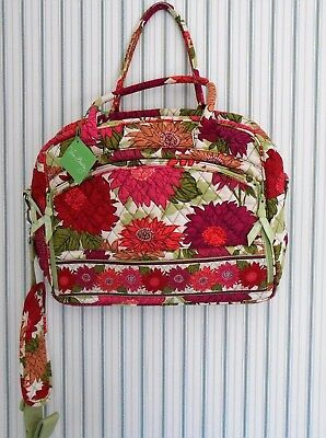 Vera Bradley HELLO DAHLIA Metropolitan laptop Business bag NWTS Free Ship U.S.