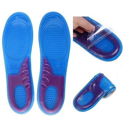 Orthotic Arch Support Massaging Feet Gel Cushion Heel Silicon Shoe Insole Unisex