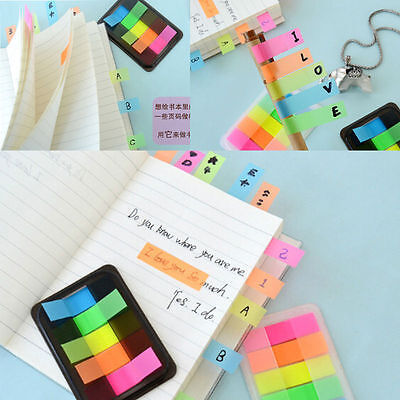 50 Page Fluorescent Sticker Post It Point Bookmark Marker Memo Flag Sticky Notes
