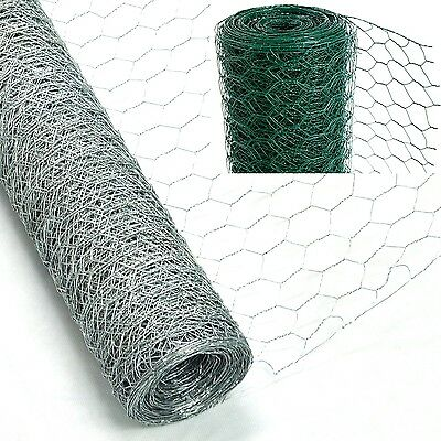 PVC COATED CHICKEN Wire Rabbit Mesh Green Fencing Aviary Fence 25M ...