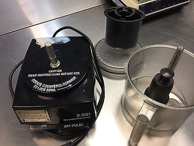 Waring Commercial Food Processor 3.5qt w/Serrated S-blade