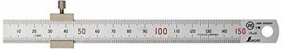 Houseware Shinwa Ruler Straight Silver With Stopper 150mm 15cm 76751 SB