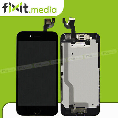 iPhone 6 Display mit RETINA LCD Glas VORMONTIERT Komplett SCHWARZ FIXIT.MEDIA