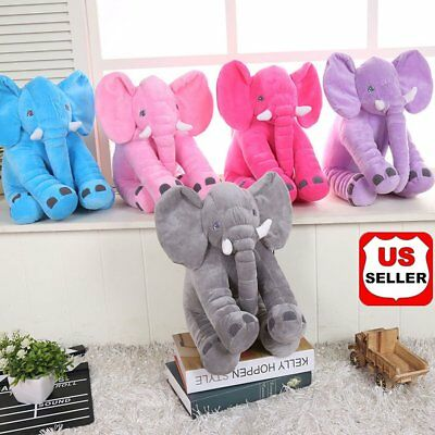 Big Elephant Pillow Cushion Stuffed Doll Toy Baby Kids Soft Plush Lumbar Nose NH