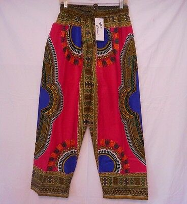 Dashiki African Mens Womens Pants Cotton Aladdin Yoga Harem Unisex One size