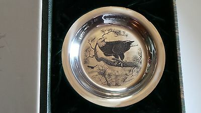 American Bald Eagle By Richard Younger Franklin Mint Sterling Silver Bird Plate
