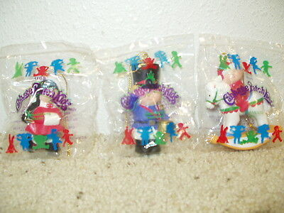 NIPs 3 AVON Cabbage Patch Kids Christmas Ornaments Baby Skater Toy Soldier