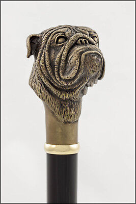 Bulldog collectable cane - Bronze head, Aluminium shaft.