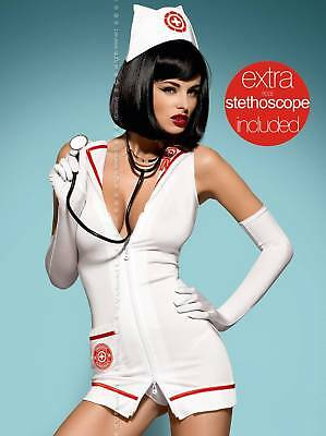 Costume Infermiera Sexy Con Stetoscopio Emergency Dress Ob0465-Ob9895-Ob0458