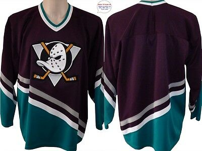Maillot jersey de hockey sur glace NHL Anaheim MIGHTYDUCKS ducks S 14 ans brodé