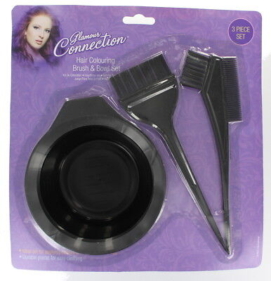 Glamour Connection Hair Colouring Brush and Bowl 3 Piece Set