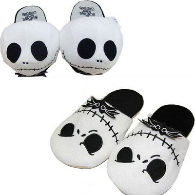 The Nightmare Before Christmas Jack Skellington Soft Plush Slippers Xmas Gifts