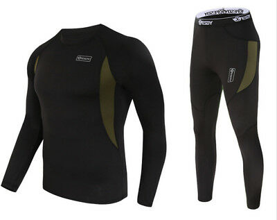 Thermal underwear sets Long Johns Sweater fleece Quick Dry thermo Leggings Pants