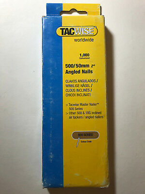 "Tacwise 500 Series 50mm (2"") Angled Nails Pack Of 1000"
