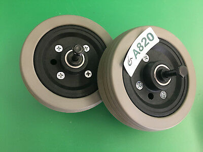 Caster Wheels & Tires for Quantum 600 Power Chair  ~set of 2~  #A820