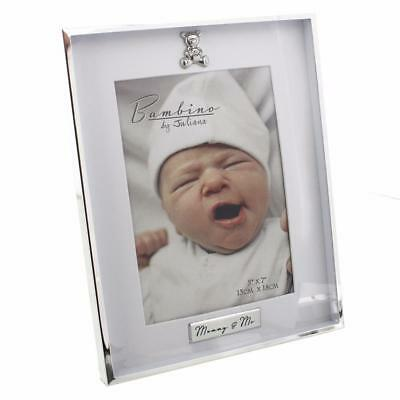 "Silver plated Baby Photo Frame - Mummy & Me 5"" x 7"""